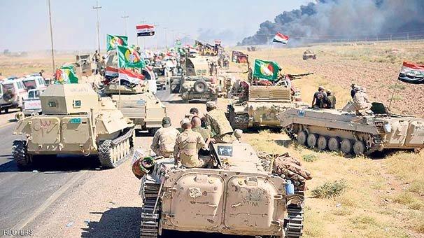 Irak güçleri Kerkük'e girdi